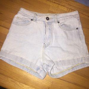 light blue mom shorts